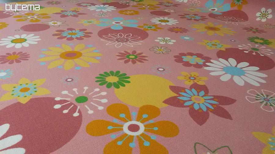 Dětský koberec metráž FLOWERS  fb59c3a27c9