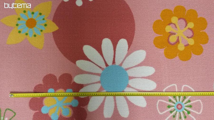 Dětský koberec metráž FLOWERS - šíře 400 cm 3620563fea2