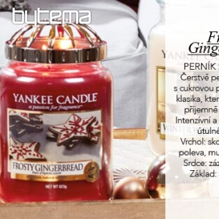 YANKEE CANDLE vůně FROSTY GINGERBREAD