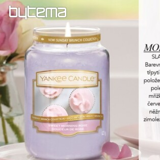 YANKEE CANDLE vůně SWEET MORNING ROSE